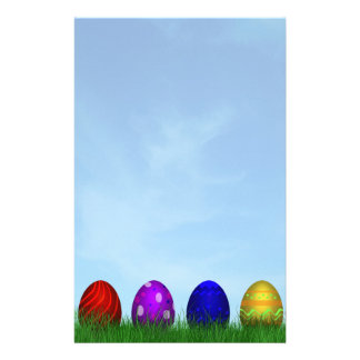 Colorful Easter Eggs - Stationery Letterhead