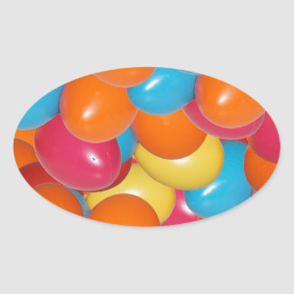 colorful eastern oval sticker