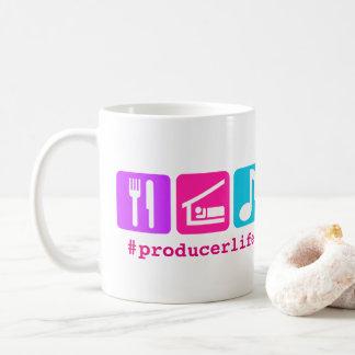 Colorful Eat Sleep Music Icons Coffee Mug