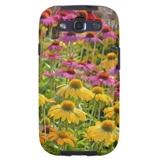 Colorful echinacea flowers in bloom samsung galaxy SIII case