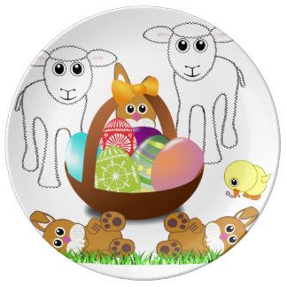 Colorful Egg Basket for First easter Plate