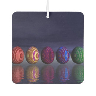 Colorful eggs for easter - 3D render Air Freshener