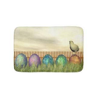 Colorful eggs for easter - 3D render Bath Mat