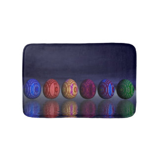 Colorful eggs for easter - 3D render Bath Mat
