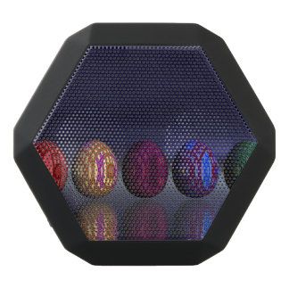 Colorful eggs for easter - 3D render Black Bluetooth Speaker
