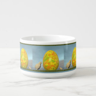 Colorful eggs for easter - 3D render Bowl