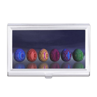 Colorful eggs for easter - 3D render Business Card Holder