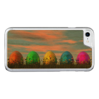 Colorful eggs for easter - 3D render Carved iPhone 8/7 Case