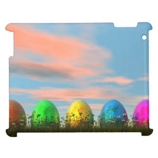 Colorful eggs for easter - 3D render Case For The iPad