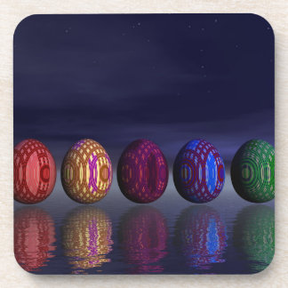 Colorful eggs for easter - 3D render Coaster