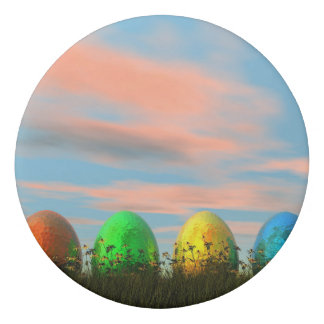 Colorful eggs for easter - 3D render Eraser