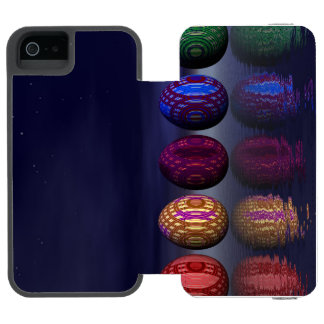 Colorful eggs for easter - 3D render Incipio Watson™ iPhone 5 Wallet Case