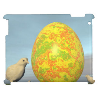 Colorful eggs for easter - 3D render iPad Case
