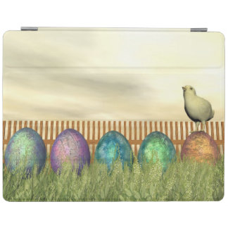 Colorful eggs for easter - 3D render iPad Cover