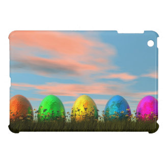 Colorful eggs for easter - 3D render iPad Mini Cases