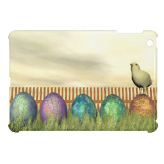Colorful eggs for easter - 3D render iPad Mini Covers