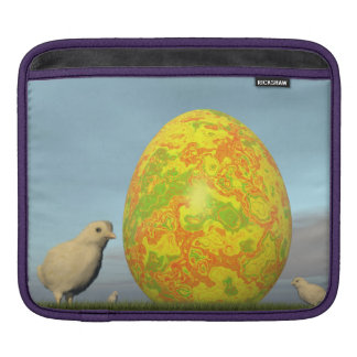 Colorful eggs for easter - 3D render iPad Sleeve
