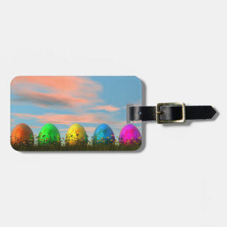 Colorful eggs for easter - 3D render Luggage Tag