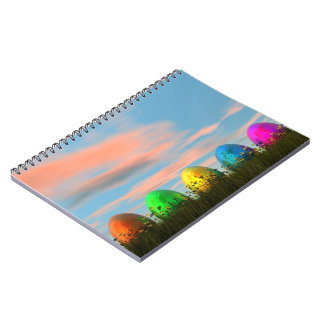 Colorful eggs for easter - 3D render Notebooks