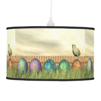 Colorful eggs for easter - 3D render Pendant Lamp