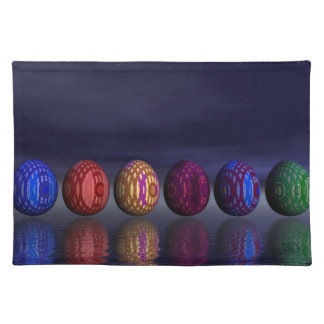Colorful eggs for easter - 3D render Placemat