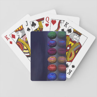 Colorful eggs for easter - 3D render Playing Cards