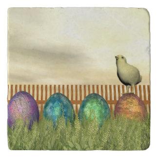 Colorful eggs for easter - 3D render Trivet
