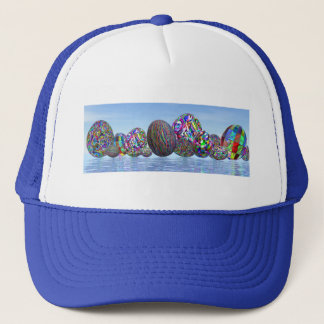 Colorful eggs for easter - 3D render Trucker Hat