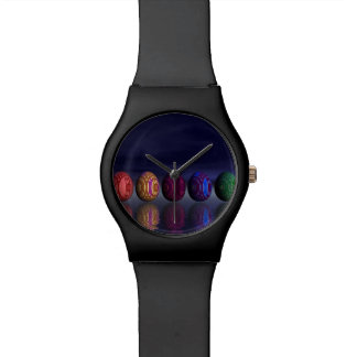 Colorful eggs for easter - 3D render Watch