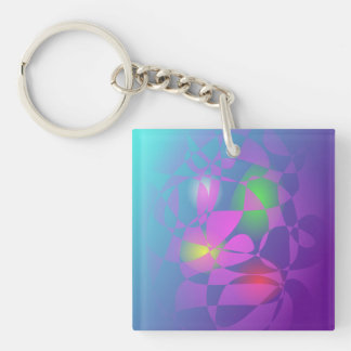 Colorful Eggs in a Basket Double Sided Double-Sided Square Acrylic Keychain