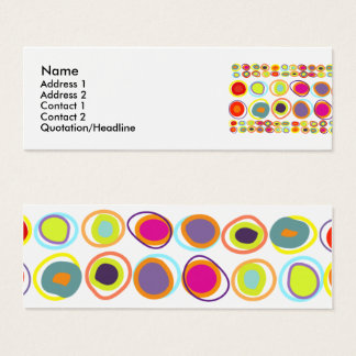 Colorful eggs skinny profile cards