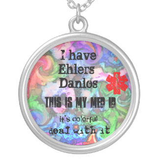 Colorful EHLERS-DANLOS MED ID Silver Plated Necklace