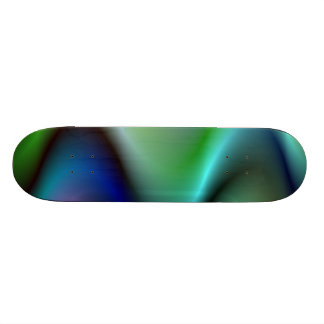 Colorful electric waves skate board