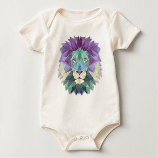 Colorful Elegant Abstract Lion Polygon Bodysuit