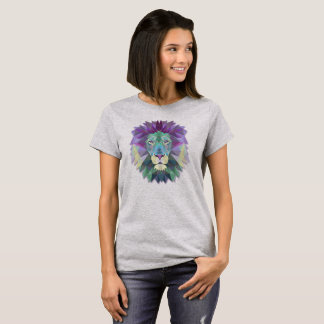 Colorful Elegant Abstract Lion Polygon | Shirt