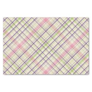 Colorful Elegant Pastel Retro Tartan Plaid Pattern Tissue Paper