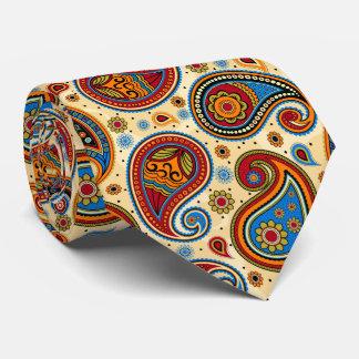 Colorful elegant vintage paisley pattern tie