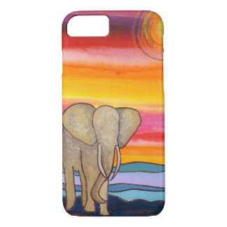 Colorful Elephant at Sunset Case-Mate iPhone Case