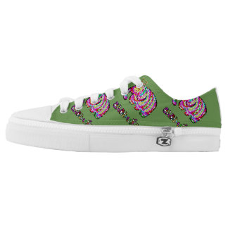 Colorful Elephant Low-Top Sneakers