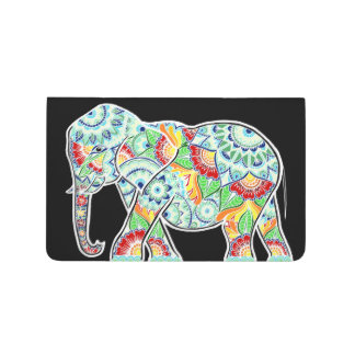 Colorful Elephant on Black Journal