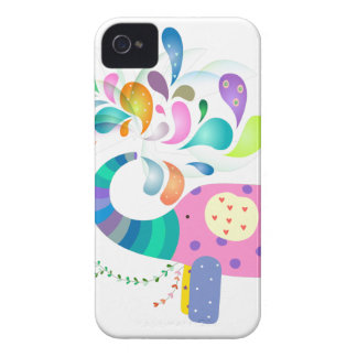 Colorful Elephant Splashing Case-Mate iPhone 4 Case
