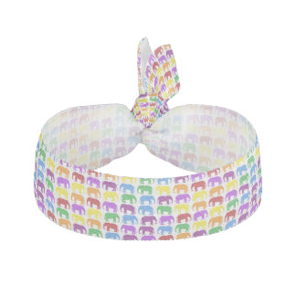 Colorful Elephants Hair Tie
