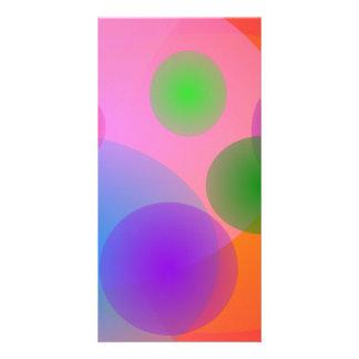 Colorful Ellipses Custom Photo Card
