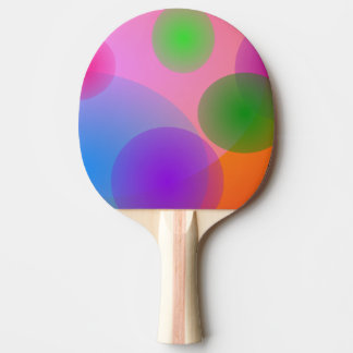 Colorful Ellipses Ping Pong Paddle