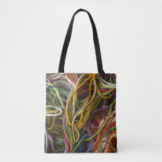 Colorful Embroidery Thread Tote Bag