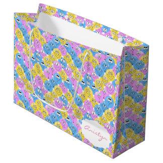 Colorful Emoji Cute Designs Large Gift Bag