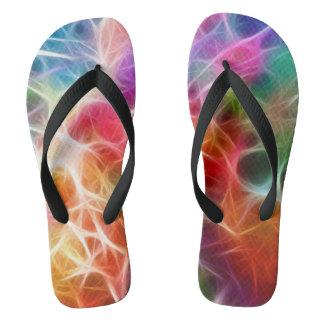 Colorful Energy Pattern Flip Flops