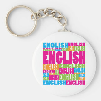 Colorful English Keychain