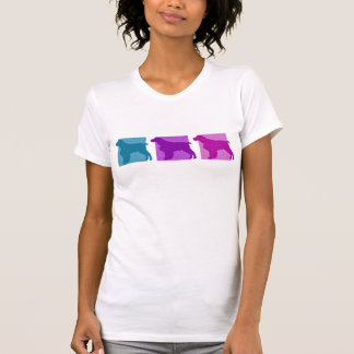 Colorful English Springer Spaniel Silhouettes T-Shirt