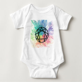 Colorful Enneagram Baby Bodysuit